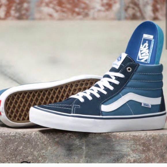 Vans Shoes | New Navy Blue High Top